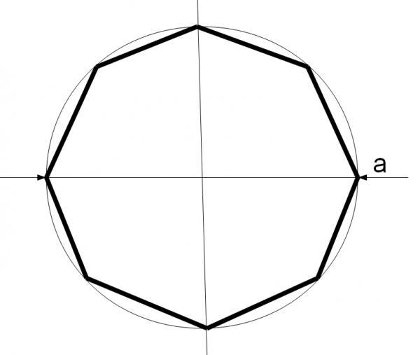 Схема аквариума 8-гранника. Аквариум восьмигранник.