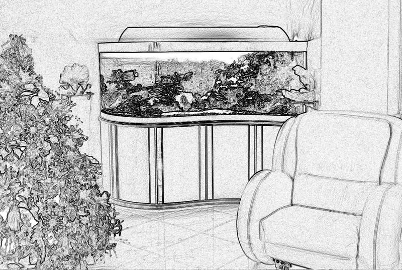 Аквариум с гнутым стеклом в виде волны. Аквариум Волна. Аквариум с передним гнутым стеклом. Купить аквариум в Харькове. Заказать аквариум в Харькове. Аквариумы купить в Харькове.
