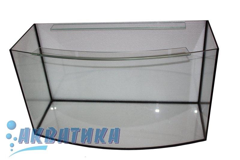 Аквариум ТМ Акватика Овал с передним гнутым стеклом, двумя ребрами жесткости.