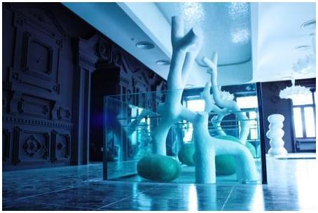 Аквариум установлен в киевском ресторане. Аквариумы на заказ. Аквариумы с гнутыми стеклами. Аквариум купить. Цены на аквариумы. Изготовить аквариум