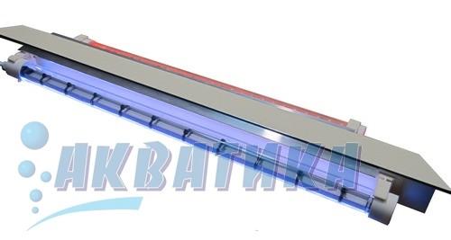 Светодиодный LED-светильник, встроенный в крышку аквариума. LED-освещение. Светодиодное освещение для аквариумов.