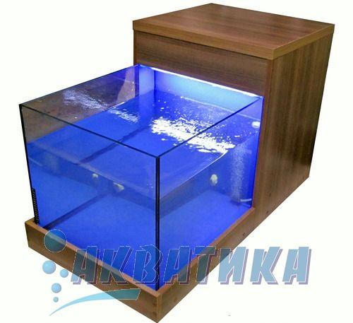Аквариумы для пилинга ног рыбками Гарра Руфа. Одноместный аквариумный комплекс для фиш-спа процедуры Гарра Руфа.